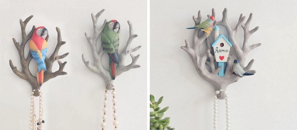 kapstok papegaai tak