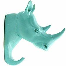 Kapstok wandhaak neushoorn turquoise (animal house)