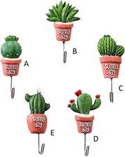 Wandhaakje cactus hartjes (Cactus serie)