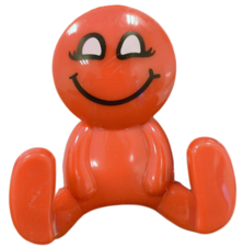 Kapstokhaakje smiley rood