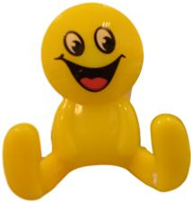 Kapstokhaakje smiley geel