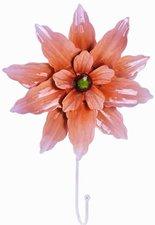 Kapstokhaak grote bloem zalm/rood