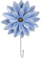Kapstokhaak bloem Dahlia grijsblauw