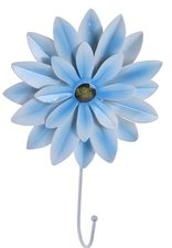 Kapstokhaak bloem Dahlia lichtblauw