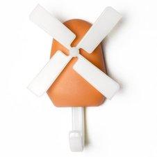 Qualy windmolen haak kapstok oranje (draait echt!)