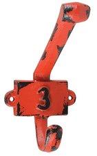 Vintage kapstok haak nummer 3 rood