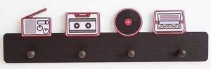 Kapstok retro radio met 4 haken