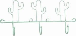 Cactus kapstok met 3 haken blauw