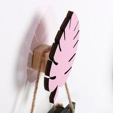 Wandhaakje palmblad roze