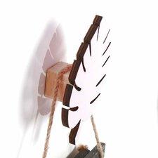 Wandhaakje palmblad wit