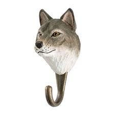 Kapstokhaakje Wildlife Garden grijze wolf