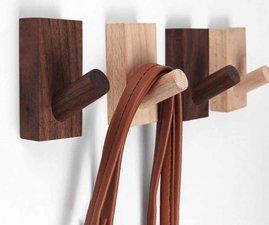Kapstokhaak Modern donker hout