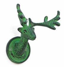 Wandhaak hert vintage groen