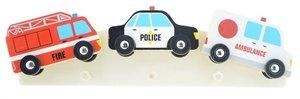 Kinderkapstok brandweer, politie, ambulance