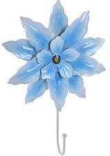 Kapstokhaak grote bloem lichtblauw