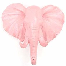 Kapstok wandhaak olifant roze (animal house)