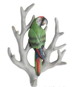 wandhaakje papegaai op tak