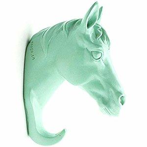 wandhaakje kapstok paard mint