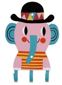kinderkapstok olifant kitsch kitchen 3 haakjes