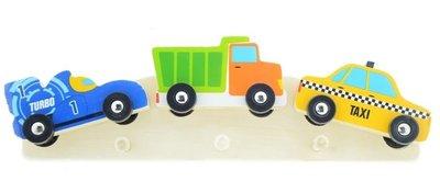 kinderkapstok racewagen vrachtwagen taxi